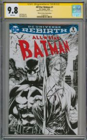 All Star Batman #1 2016 Midtown Sketch Variant CGC 9.8 Signature Series Signed Scott Snyder DC comic